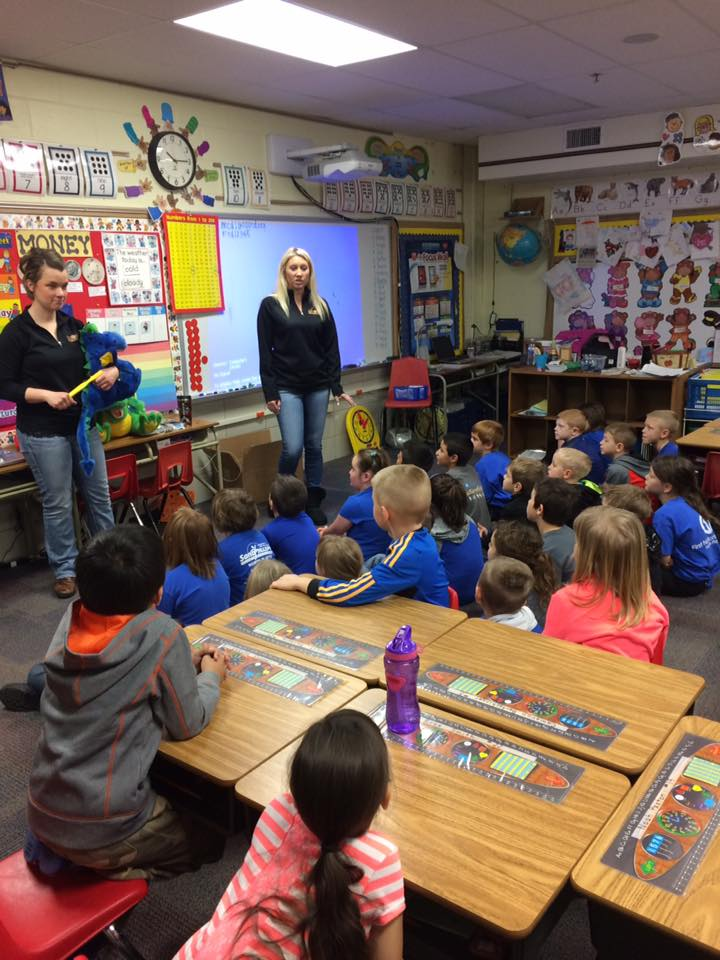 Oral Care Education with Mrs. Feeney's 1st Grade Class!
