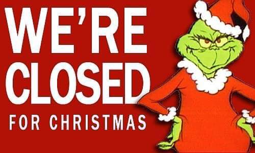 Christmas Hours!