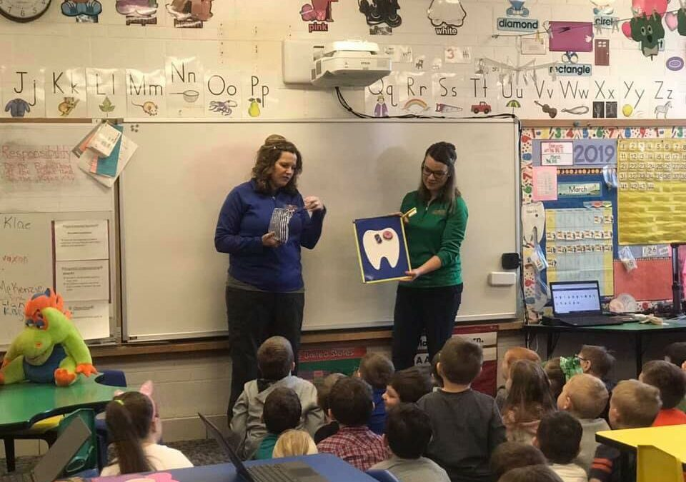 Teaching the Importance of Dental Hygiene at Hershey Elementary School!