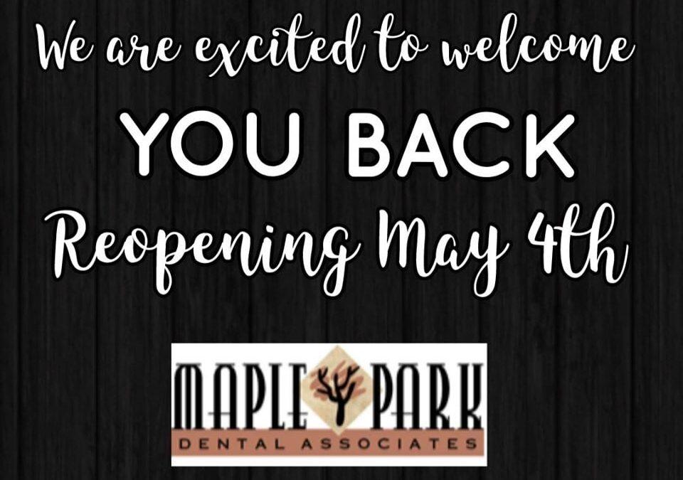 Reopening May 4th!