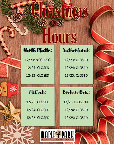 2020 Christmas Hours