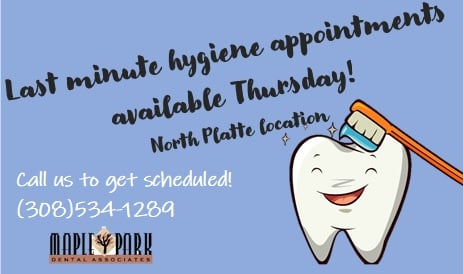 North Platte Location: call to get scheduled!