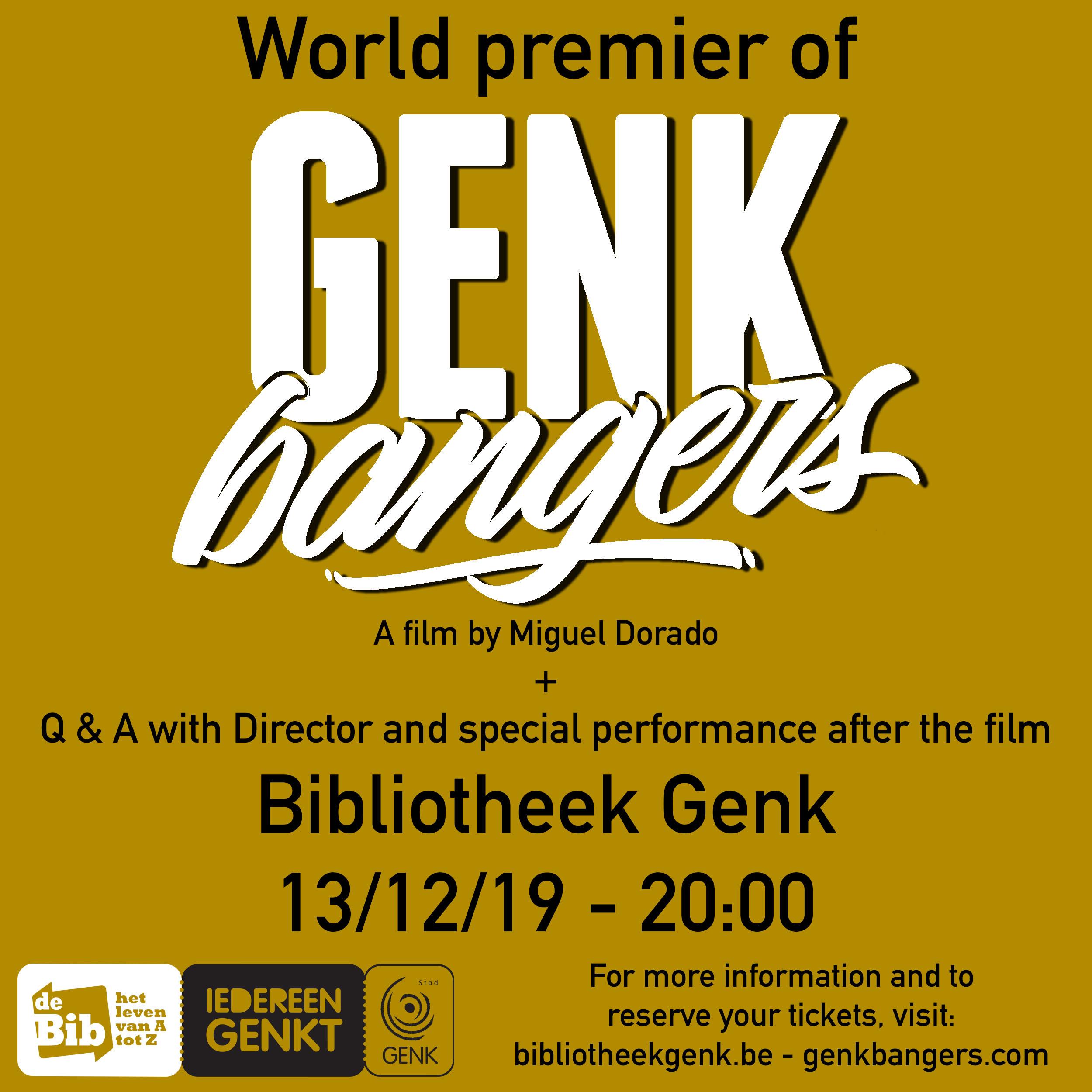 Film premier in Genk, Belgium 13/12/19
