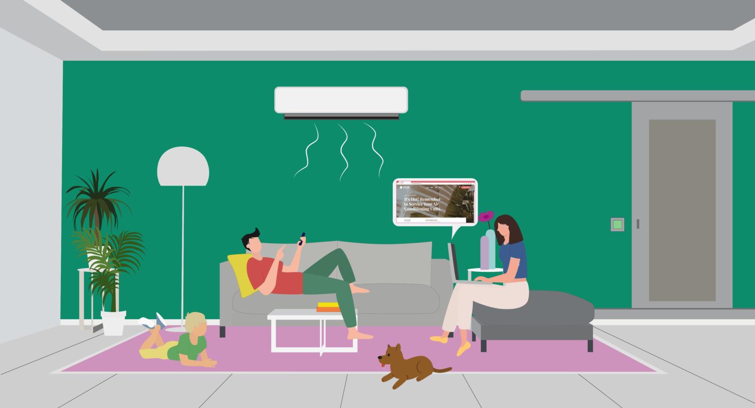 Booking AC Service illustration