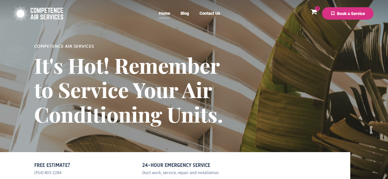 Front Page website Competence Air Services