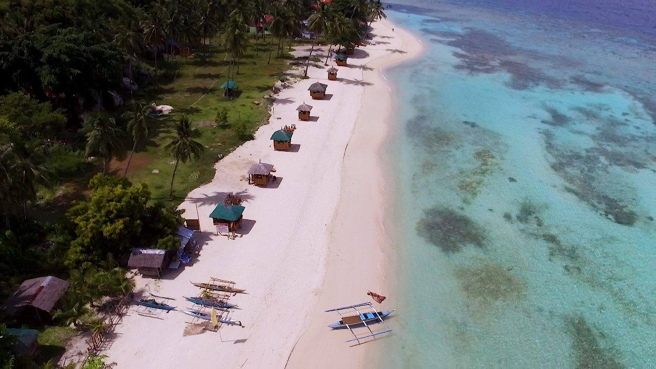 Aerial view of Lambug Beach in Badian Cebu - Sergei Tokmakov