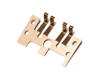 copper chemical etching element of printed circuit board contact