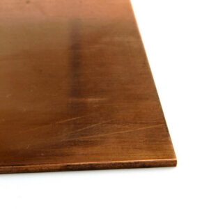 Phosphorous Bronze chemical etching 8-inch by 9-inch raw material sheet