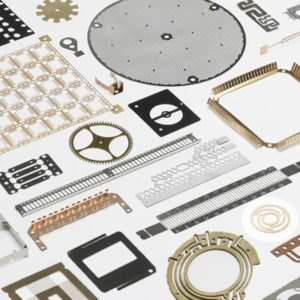 various etched metal parts for electronics