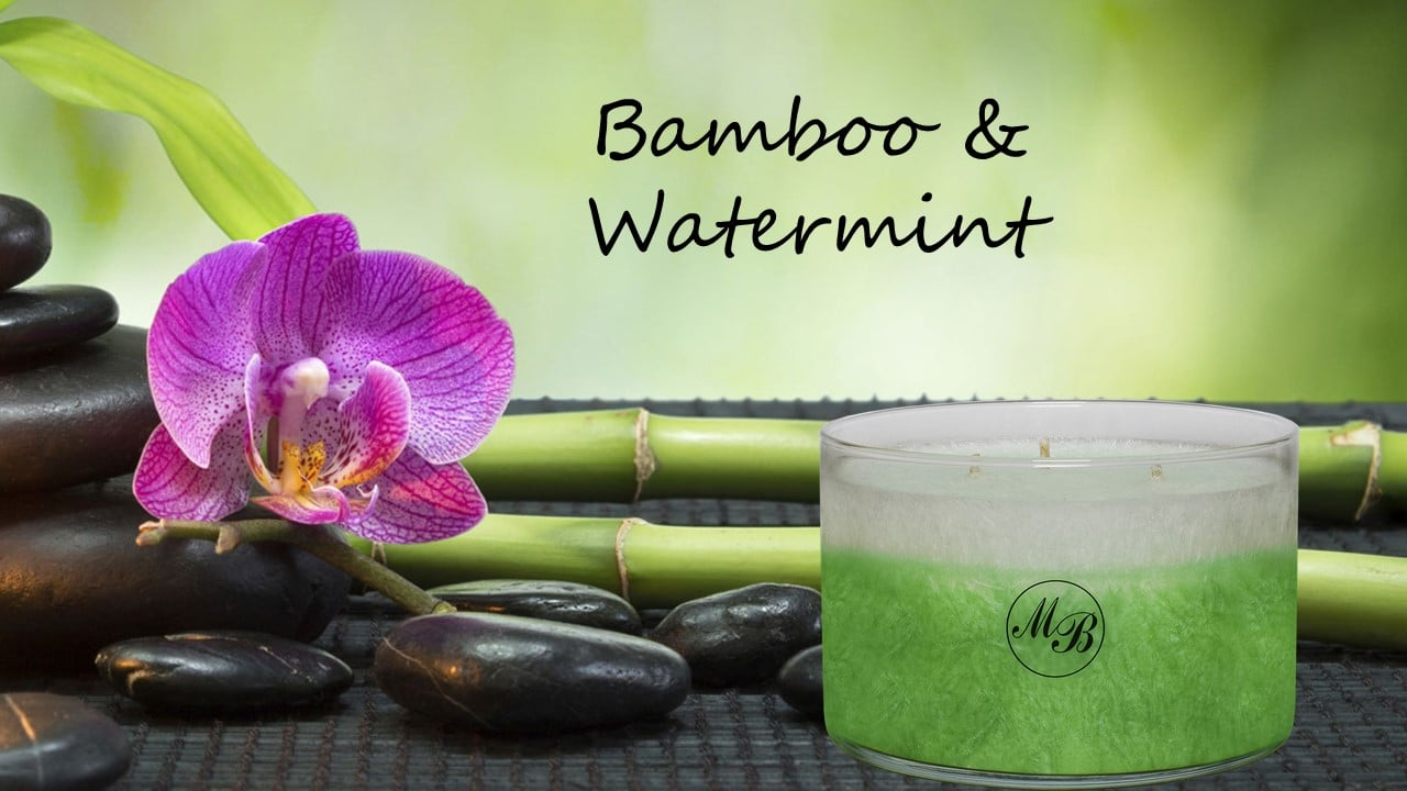 Bamboo and watermint candle