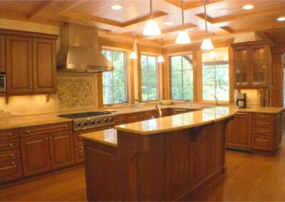 Custom Built Hardwood Kitchen