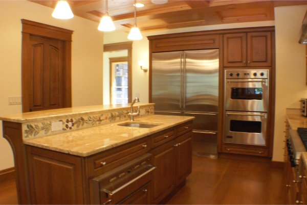Kitchen With Island And Modern Appliance