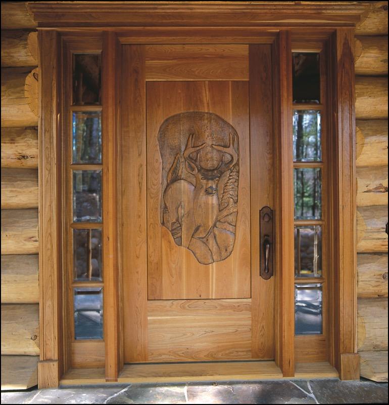 Luxury Log Home Custom Wood Door