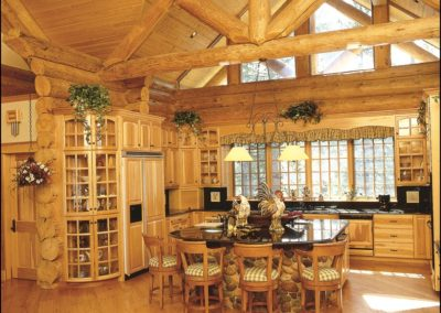 Luxury Log Home Kitchen Anderson Hammack Home Builders Duluth MN