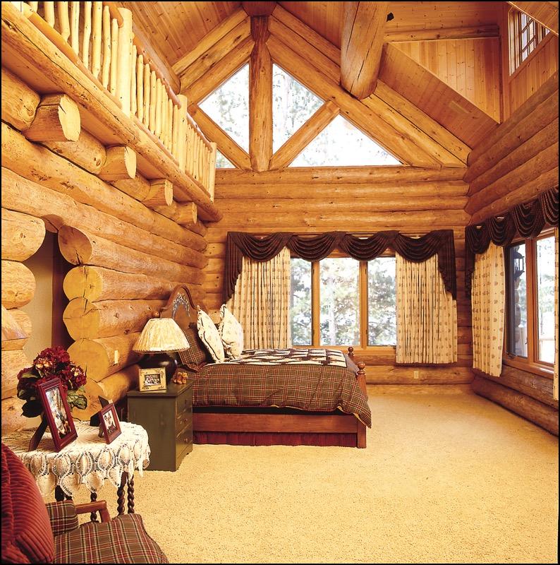 Luxury Log Home Master Bedroom building a custom home anderson hammack