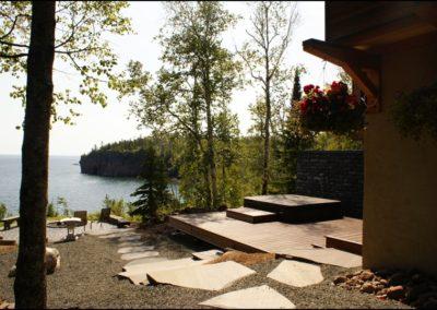 Nordic Zen Deck Lake Home Builders Duluth MN