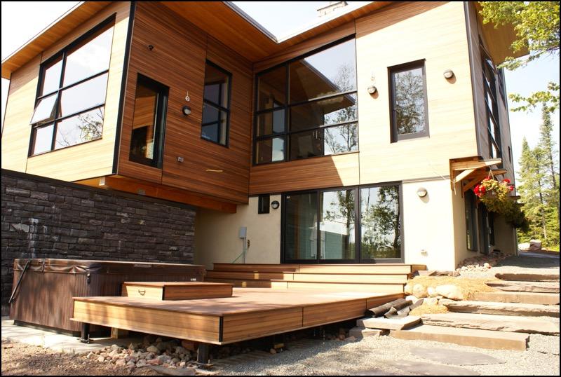 Nordic Zen Outside Deck Anderson Hammack Construction Build Duluth MN