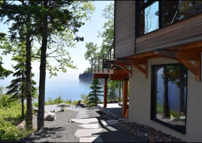 Nordic Zen Walkway Lake Anderson Hammack Luxury Builders Duluth MN