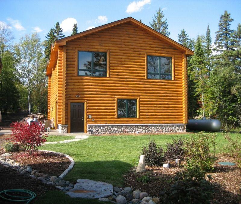 North Shore Log Home Garage Luxury Builders Anderson Hammack