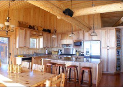 North Shore Log Home Kitchen Anderson Hammack Luxury Builder