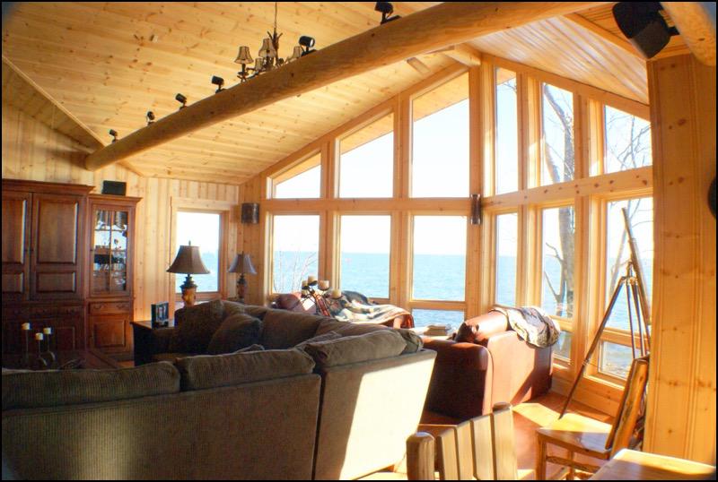 North Shore Log Home Windows Anderson Hammack Luxury Builders
