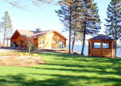 North Shore Log Home with Gazebo Anderson Hammack Luxury Contractors