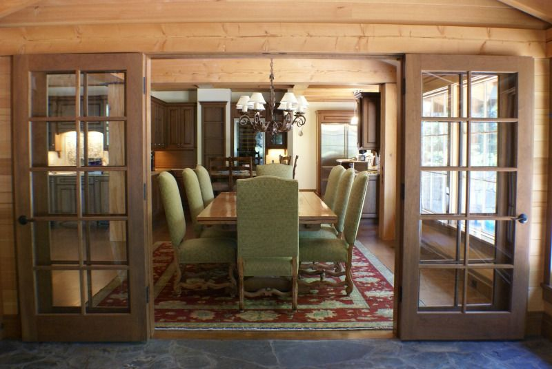Rustic Craftsman Dining Room Anderson Hammack Construction Builders Duluth MN
