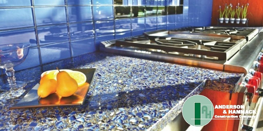 Recycled Glass Countertop Anderson Hammack