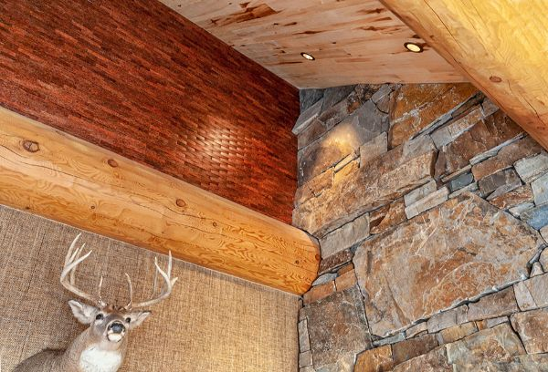 Wood And Stone Cabin Detail