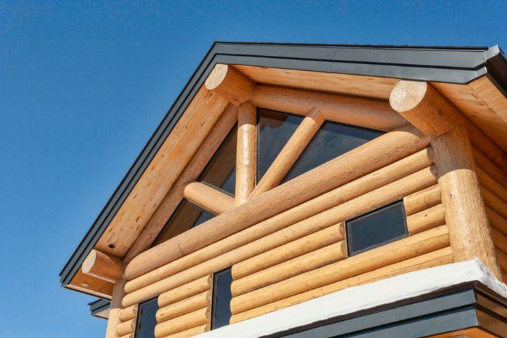 Timber Frame Home Roofline