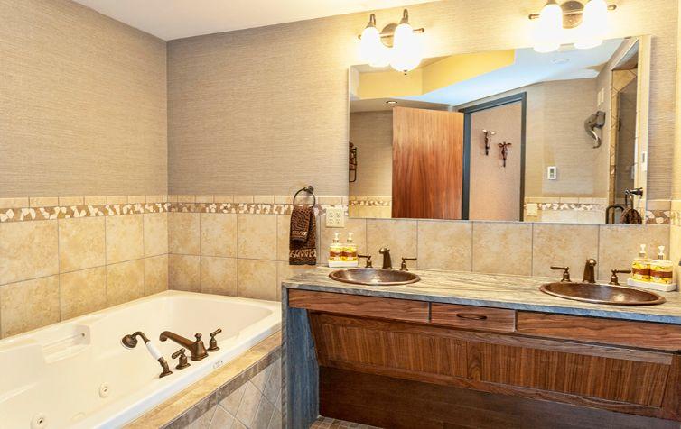 Dual Sink Custom Bathroom Vanity Waterfall Countertop
