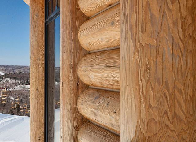 Log Cabin Exterior Timber Detail