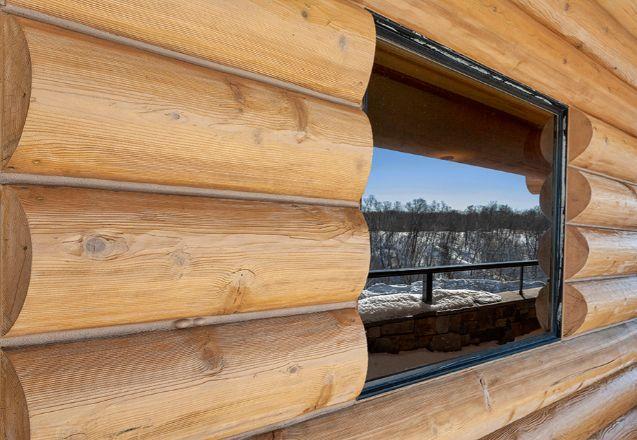 Log Home Exterior Detail Window
