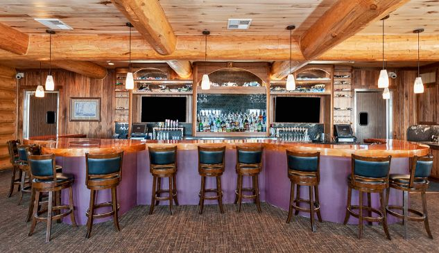 Beautiful Custom Bar With Stools