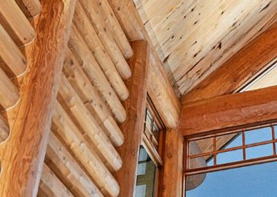 Log Home Wall Window Details