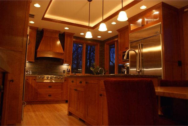Amazing Custom Wood Finished Kitchen Remodel Project