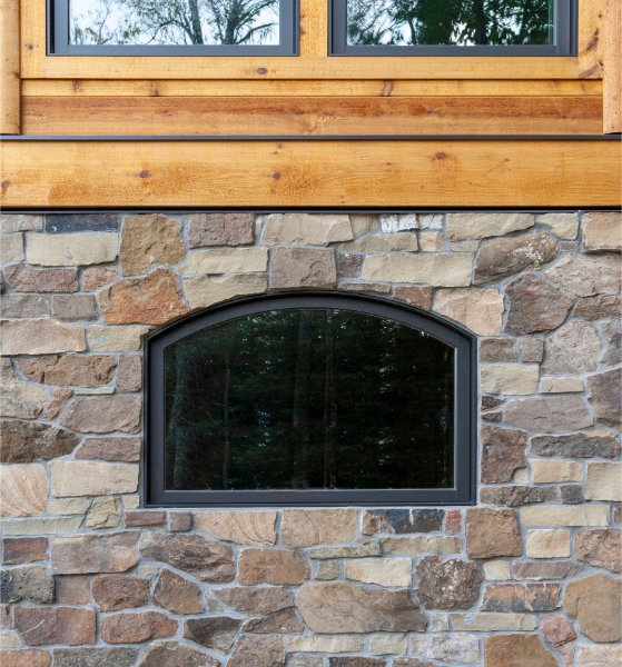 Amazing New Log Home Detail Stone And Wood Frame