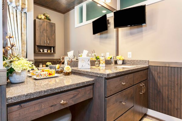 Beautiful Bathroom Cabinets With Makeup Partition