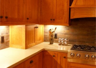 Beautiful Custom Wood Kitchen Cabinets With Black Hardware