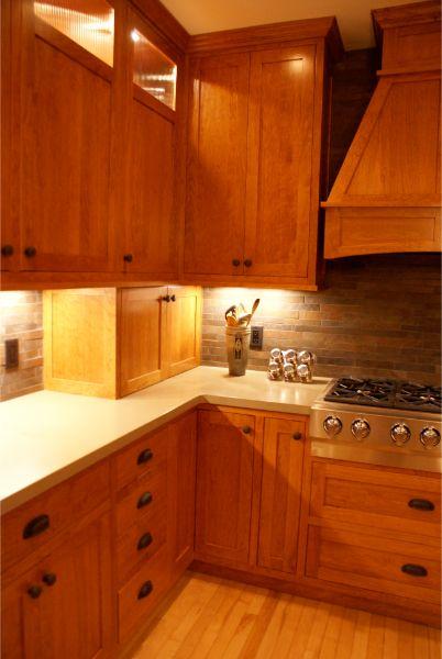 Beautiful Custom Wood Kitchen Cabinets With Black Hardware