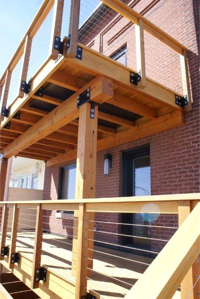 Beautiful Warm Deck Construction