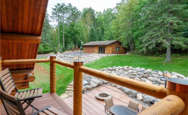Bedroom Deck Landing View Of Northern Woods