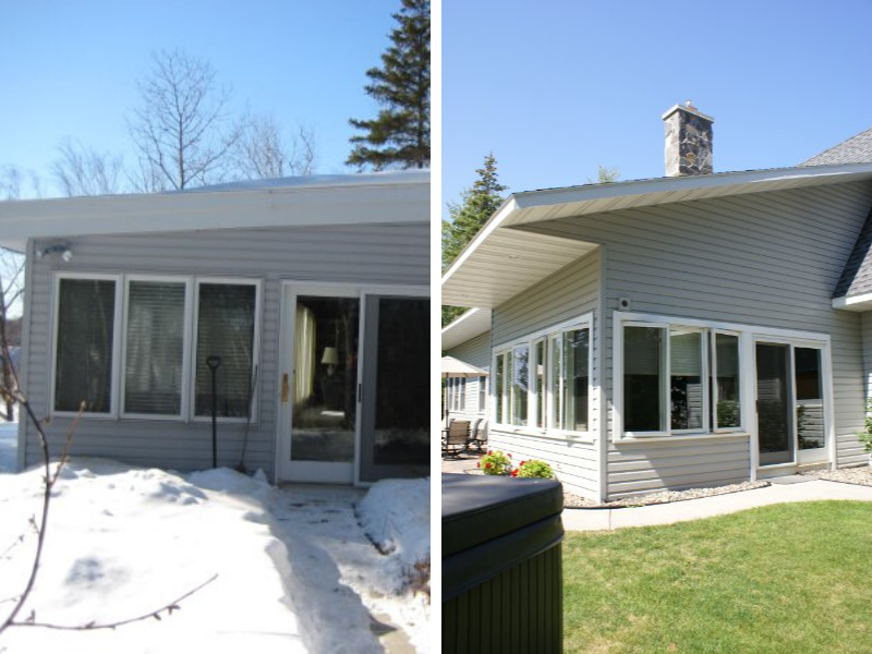 Before And After All Season Porch Windows Doors