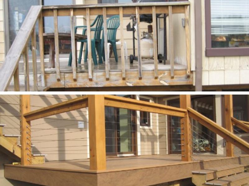 Before And After Deck Remodel Door Platform