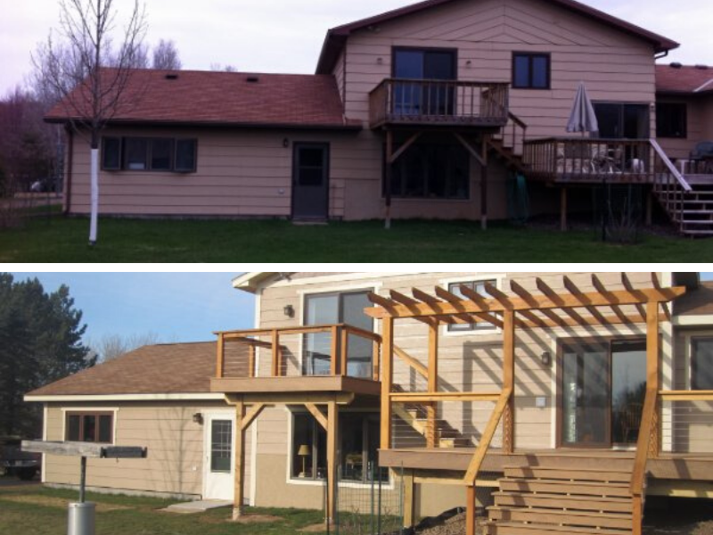 Before And After Deck Renovation