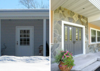 Before And After New Door Renovation