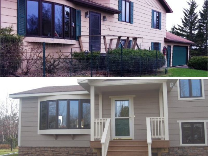 Before And After Remodel Front Door Entry