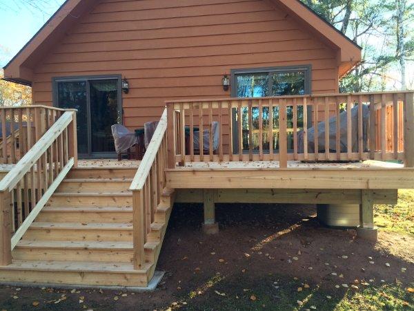 Classic New Hardwood Deck Addition