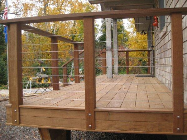 Clean Modern Deck Railing