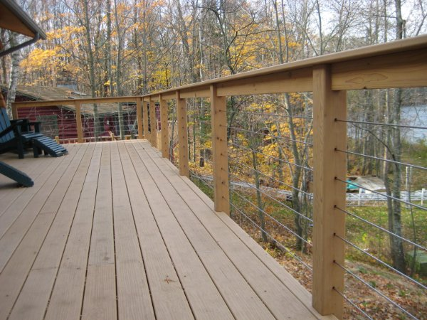 Composite Deck Project With View Through Railing